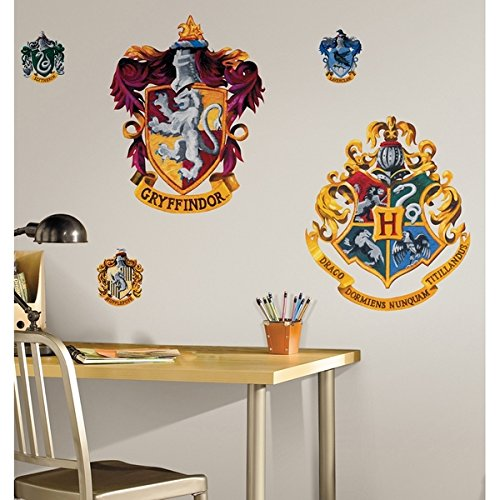Harry Potter Crest Peel & Stick Giant Wall Decal (Crest Sticker)