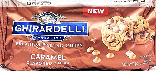 (Ghirardelli Premium Baking Chips, Caramel flavored, 10 oz, Pack of 2)