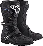 Alpinestars Toucan Gore-TEX Men's Weatherproof Motorcycle Touring Boots (Black, US Size 10)