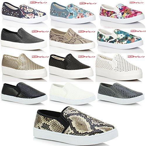 MyShoeStore Entrenadores Gimnasio 7 Zapatillas 38 Mocasines Plimsolls Plataforma deporte EU UK Beige Ladies Skater casual Pumps de US Womens Girls Deportes 5 Zapatos r1zr7qg