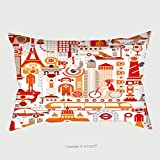 Custom Satin Pillowcase Protector Travel Isolated Vector Illustration On White Background Graphic Art Design 181941200 Pillow Case Covers Decorative