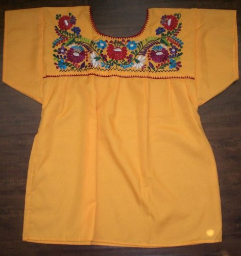 Mexican Peasant Blouse Shirt Top Size Medium