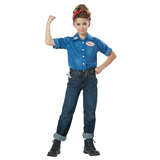 Rosie the Riveter Costume & Outfit Ideas California Costume Rosie the Riveter Costume $26.51 AT vintagedancer.com