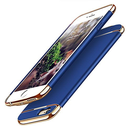 Battery Case iPhone 6 Plus/6s Plus,NUTK 3500mAh Combo Protable Slim Ultra Thin Hard Luxury Charging Backup Power Case Cover,Rechargeable Power Bank Charging Case iPhone 6 Plus/6s Plus.Blue