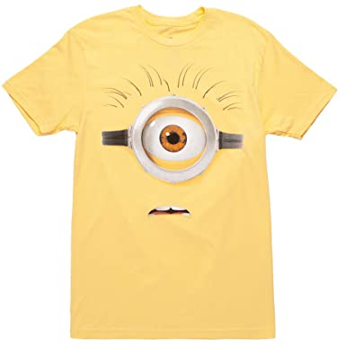 bae1000c6 Amazon.com: Despicable Me Minions Yellow Face Adult T-Shirt: Clothing