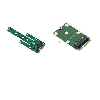 B Blesiya M.2 SSD Adaptador NGFF a mSATA Convertidor Tarjeta ...