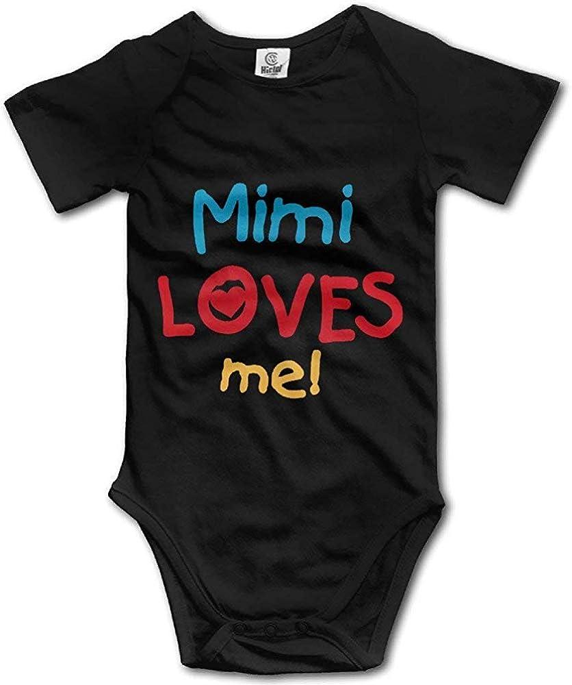 FOEVERLTF Mimi Loves Me Cute Bodysuit Toddler Rompers for Infant Baby Girls Boys