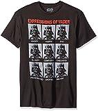 Star Wars Men's Expressions T-Shirt, Black, X-Large