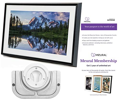 Meural Canvas – Smart Digital Photo Frame – Art Display | Leonora Black | Swivel Wall Mount | 27 inch HD Display with WiFi | Smart Home Compatible | Includes One-Year Membership to Art Library