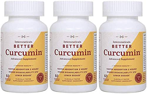 Interceuticals Better Curcumin – Theracurmin Curcumin 90 mg – 27X Bioavailable Turmeric* – High Absorption, Low Dose 3 Bottles