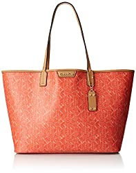 Calvin Klein Valerie Unlined Tote H5aaj3sy Travel Tote, Layered Orange, One Size