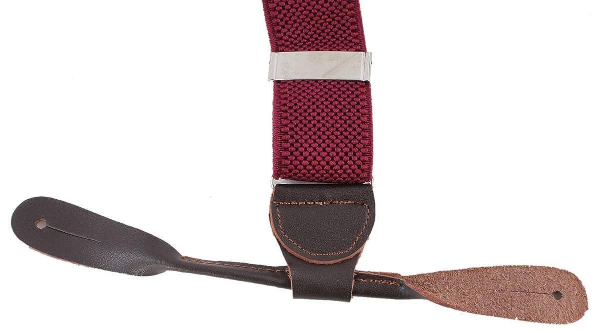 Knightsbridge Neckwear Mens Luxury Braces Burgundy