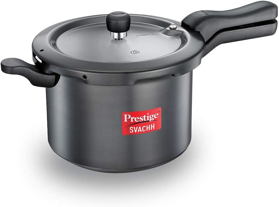 TTK Prestige SVAHA5 Prestige Svachh Pressure Cooker HA 5 L, 5-Liter, Black