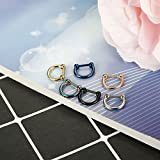 ORAZIO 6PCS 16G 316L Stainless Steel D Shaped