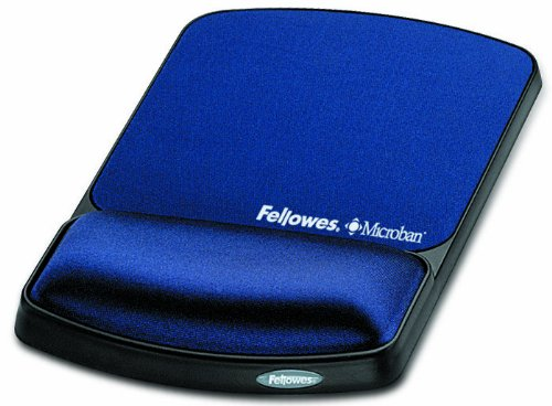 Gel Wrist Support And Mouse Pad with Microban Protection, Sapphire () - Fellowes 9175401