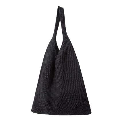 iShine - Bolso de mano para mujer, cómodo de tejer, tejido a ...