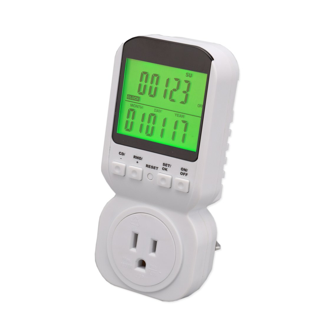 Timer Digital Clock LCD Display ON//OFF Control for Electrical Appliances Energy Saving Nashone Timer Outlet
