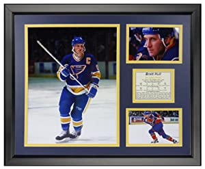 "Brett Hull 16"" x 20"" Framed Photo Collage by Legends Never Die, Inc."
