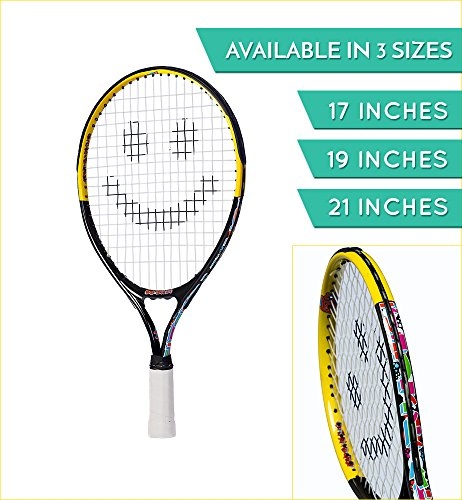 Street Tennis Club Tennis Rackets for Kids, 21-Inch, - Youth Tennis Racket