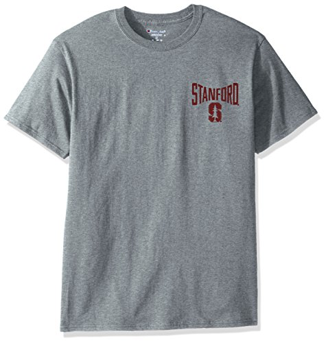 Cardinal Gear Stanford (NCAA Stanford Cardinal Men's Champ Short sleeve T-Shirt 6, Medium, Oxford Heather)