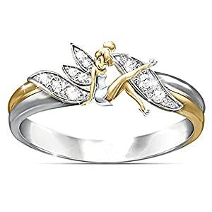 Fairy Winged Angel Ring By Ginger Lyne Two Tone For Girls Kids Fashion Jewelry Gift For Daughter Best Friend Whimsical Fairies