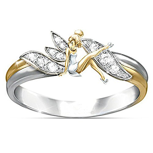Ginger Lyne Collection Fairy Winged Angel Ring Two Tone from Size 9]()