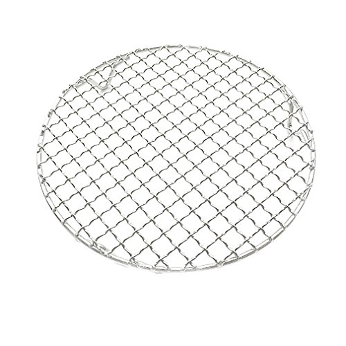 Carbon Steel Round Wire - InBlossoms Cooling Barbecue Rack Carbon Baking Net Grill Pan Grate with Legs Round Stainless Steel Cross Wire Dia 11