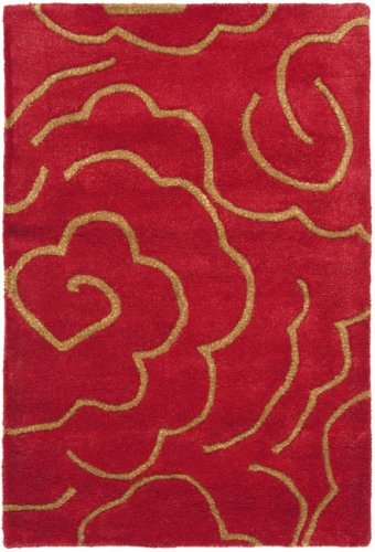 Safavieh Soho Collection SOH812A Handmade Red Premium Wool Square Area Rug (8' Square)