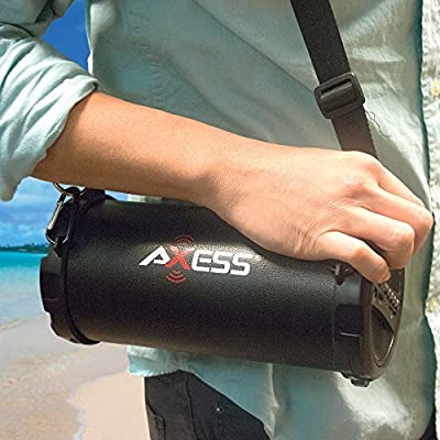 Axess Portable Bluetooth Indoor/Outdoor Cylinder Loud Speaker