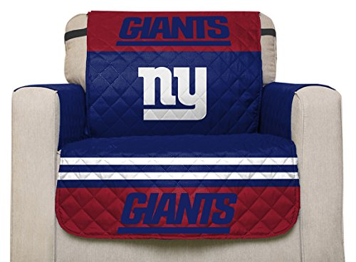 Giants Sofa - Pegasus Home Fashions NFL New York Giants Chair Furniture Protector with Elastic Straps, 75 x 65