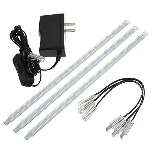 LEDwholesalers Linkable Under Cabinet Light Set of 3x 10-inc