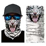 OWMEOT Stretchable Face Shield Mask Guards Balaclava Headwear for Camping,Running,Cycling, Biking, Motorcycling,Fishing,Hunting,Yard Working and Sun UV Protection (B)