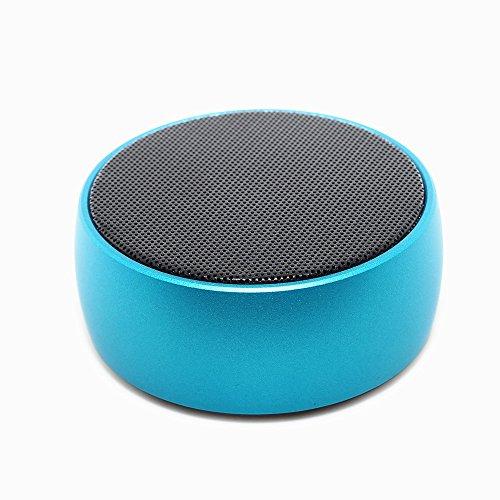 Metal wireless Bluetooth speaker bass cannon mini portable audio card gift Blue Angle Loudspeaker