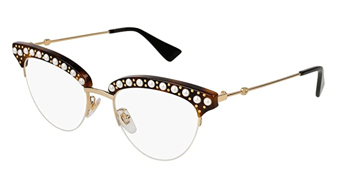5cd74d8cd7f0 Image Unavailable. Image not available for. Color  Eyeglasses Gucci GG 0213  O- 002 HAVANA GOLD