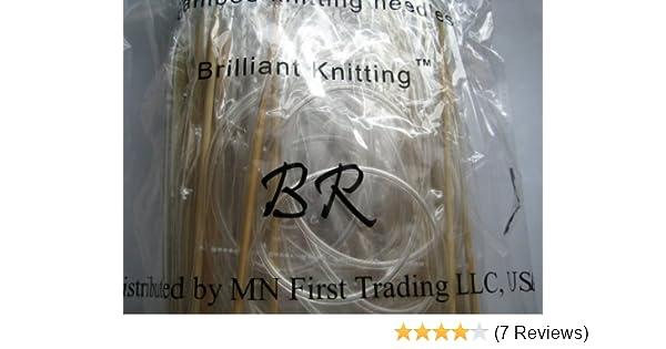 "premium 47/"" 15 size  bamboo circular knitting needles US 0-15"