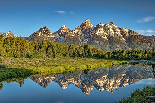 Grand Teton National Park: Reflections: Teton Mountain Range reflects in Snake River ()