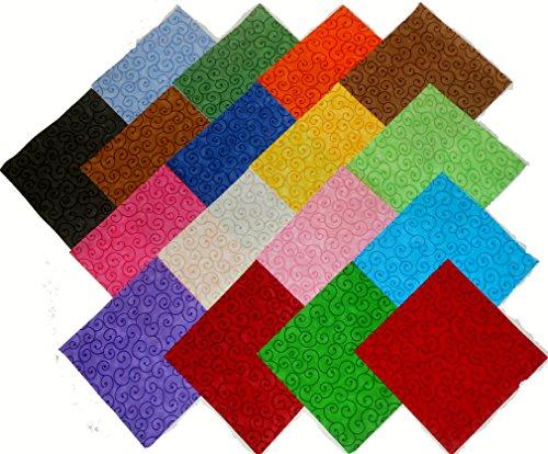 Swirls Quilt Fabric - 17 10