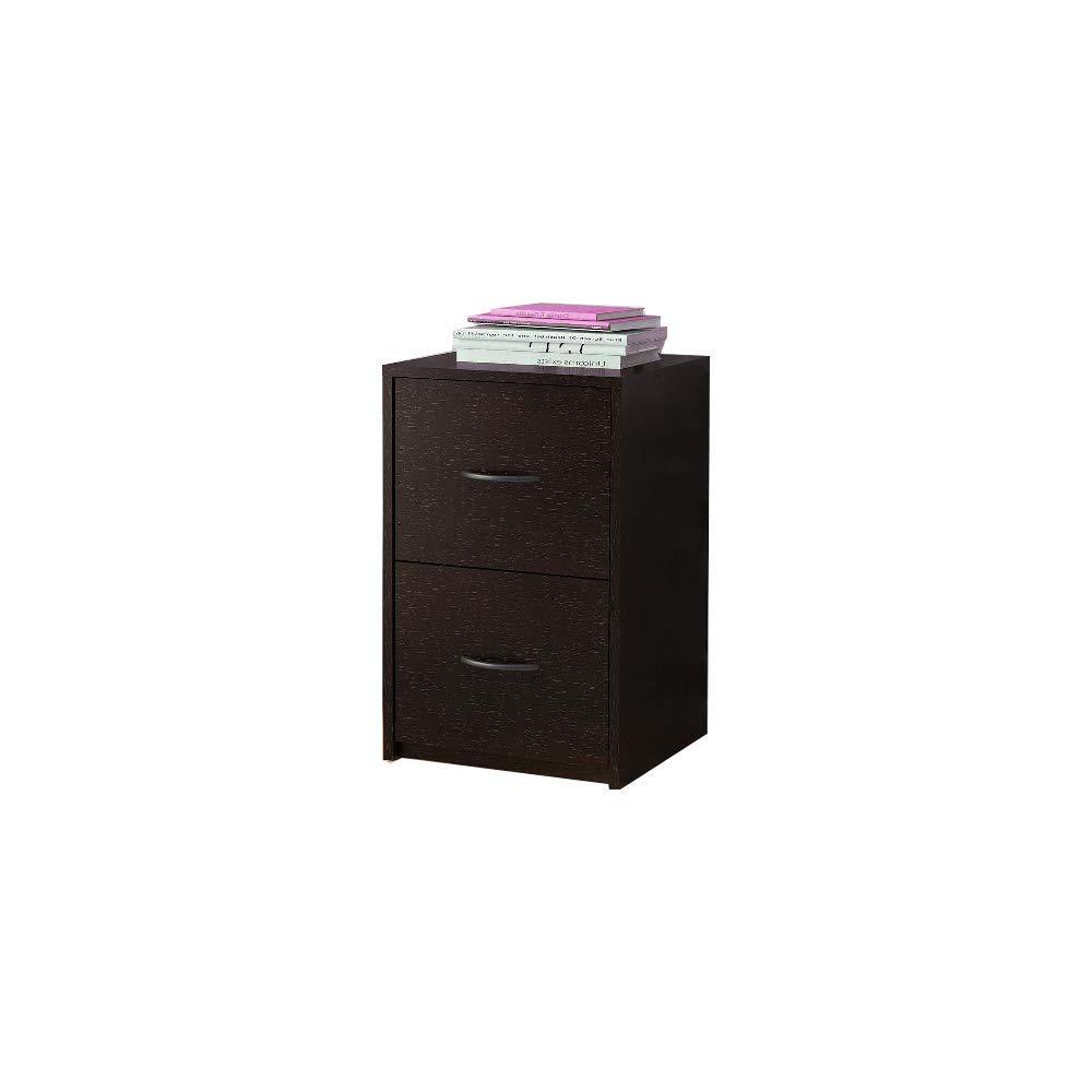 2 Drwaer File Cabinet Modern Office Filing Locking Folder Wood Furniture & Ebook by AllTim3Shopping