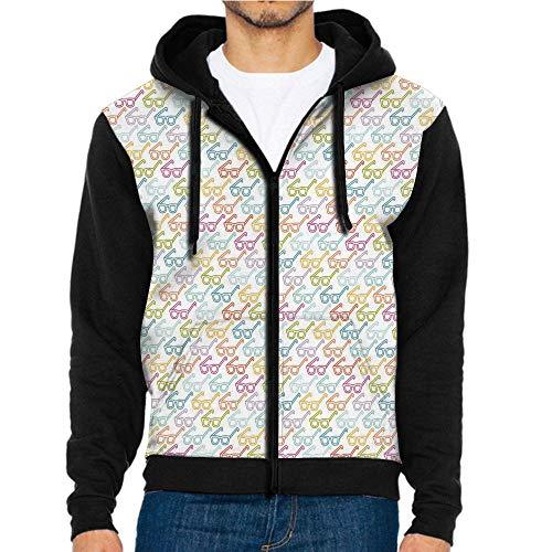 3D Printed Hoodie Sweatshirts,Eyeglasses Nerd Smart,Hoodie Casual Pocket ()