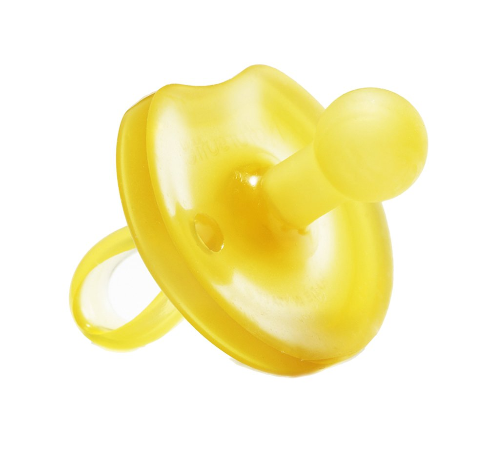 Natursutten BPA Free Natural Rubber Pacifier, Butterfly Rounded, 6 - 12 Months