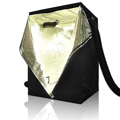 LAGarden 48x48x78 100% Reflective Diamond Mylar Hydroponics Indoor Grow Tent Non Toxic Planting Room 4x4Ft by LAGarden (Image #1)