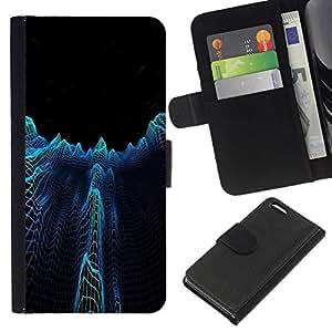 // PHONE CASE GIFT // Moda Estuche Funda de Cuero Billetera Tarjeta de crédito dinero bolsa Cubierta de proteccion Caso Apple Iphone 5C / Dark City Towers Abstract /
