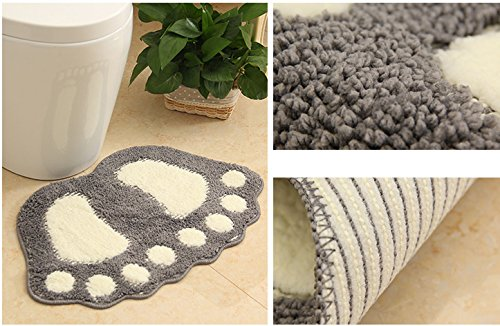 Huahoo Big Feet Bath Toilet Mat Area Rugs Carpet Doormat