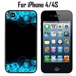 Blue Swirls Illusion Custom Case/ Cover/Skin *NEW* Case for Apple iPhone 4/4S - Black - Plastic Case (Ships from CA) Custom Protective Case , Design Case-ATT Verizon T-mobile Sprint ,Friendly Packaging - Slim Case