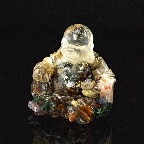 Energy Filled Crystal Laughing Buddha Resin and Embedded Crystals Manifestation Metaphysical Properties #87 by Inspirational Goodies (Image #5)