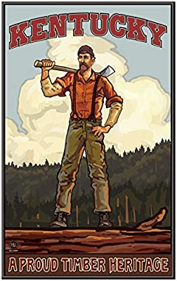 Kentucky Lumber Jack Travel Art Print Poster by {Artist.FullName} ({OutputSize.ShortDimensions})
