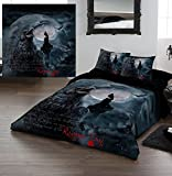 RAVEN'S CRY Queensize Bed Duvet & Pillow Bed Linen Set Officially Licenced Dark Gothic Art