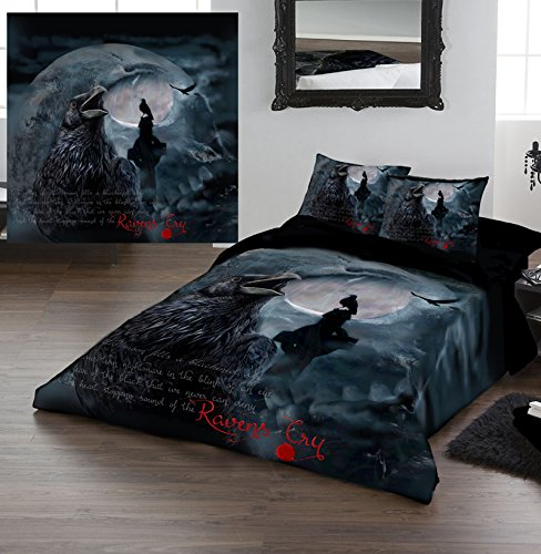 Amazon Com Raven S Cry Queensize Bed Duvet Pillow Bed Linen Set Officially Licenced Dark Gothic Art Home Kitchen
