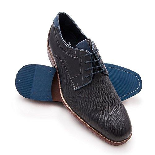 Zerimar Herren Lederschuh Komfortabler Schuh mit Flexibler Gummisohle Leder Casual Schuh für Den Mann Hochwertige Leder Schuhe Elegant 100% Leder Farbe Schwarz90
