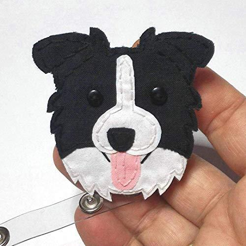 Border Collie,Australian Shepherd,Cattle dog,Dog, Badge Reel,Badge Card Holder,ID Holder,Nursing Badge Holder,Border Collie badge ID Holder ()